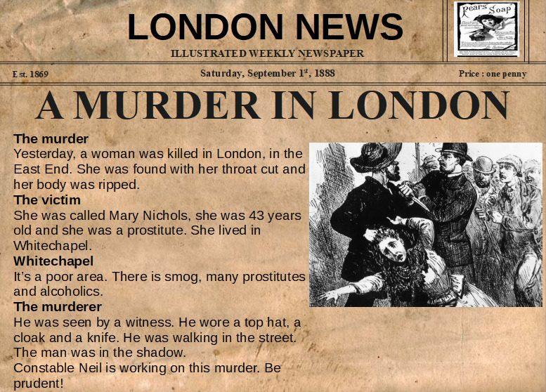 A new murder in London