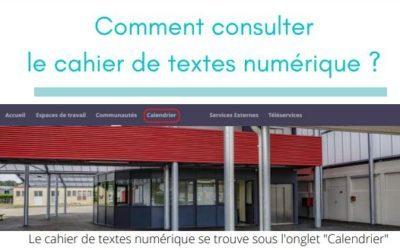 Comment consulter le cahier de texte numérique ?